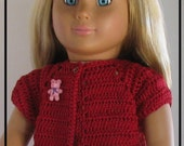 Spring Short Sleeved Sweater Crochet Pattern fits 18 in. Dolls such as American Girl PDF Download