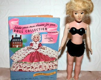 Lingerie Lou Doll, Doll Clothes Pattern Book