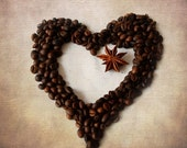 Heart coffee, Coffee love, Food photography, Coffee shop decor, Kitchen art, Love coffee, Brown neutral, Coffee heart