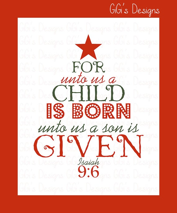 Christmas Tree In The Bible Scripture: Merry Christmas Holiday Tree Scripture For Unto By