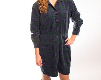 Plaid flannel dress size medium to large