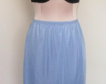 Half Slip Lorraine Blue Vintage Size Small
