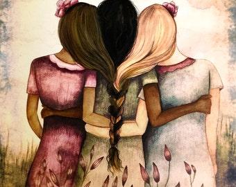 Sisterhood art print