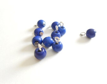 Blue Howlite Turquoise Dangle Beads