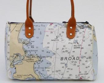 Nautical Navigator Barrel Bag