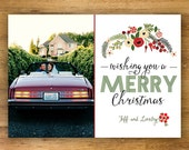 Wishing You Holiday Card, Printable Christmas Card
