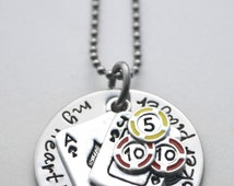 Poker Necklace - Poker player necklace - stainless steel hand stamped necklace - See all photos!