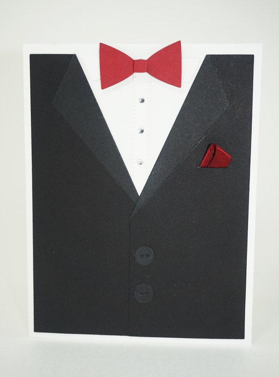 fathers day tuxedo card suit and tie groom s card s day card tuxedo 4451