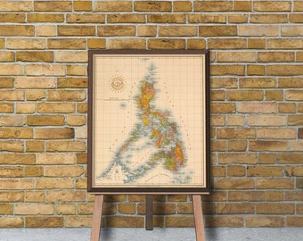 Archival print - Old map of Philippines Islands - 18 x 21""