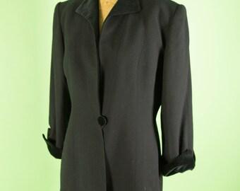 Christian Dior Black and Velvet Blazer