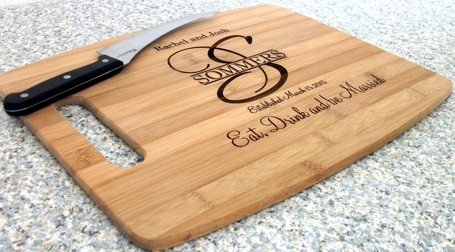 Personalized Cutting Boards ~ Personalized cutting board cheese tray wedding