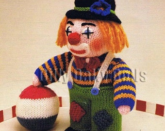 Anne Carol Creations Woolly Wotnots No 22 THE CLOWN Toy Doll Ornament Knitting pattern