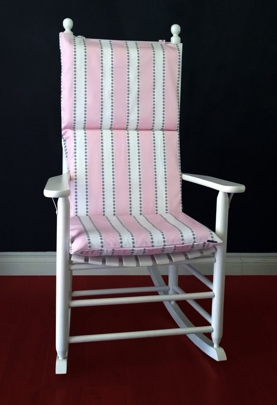 Rocking Chair Cushion Cover Lulu Stripe Pink