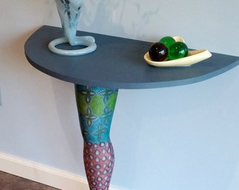 Modern Art Table Leg Furniture Decor Hand Painted Table Metallic Multi Colored Wall Mount for Hall Bar Display Window