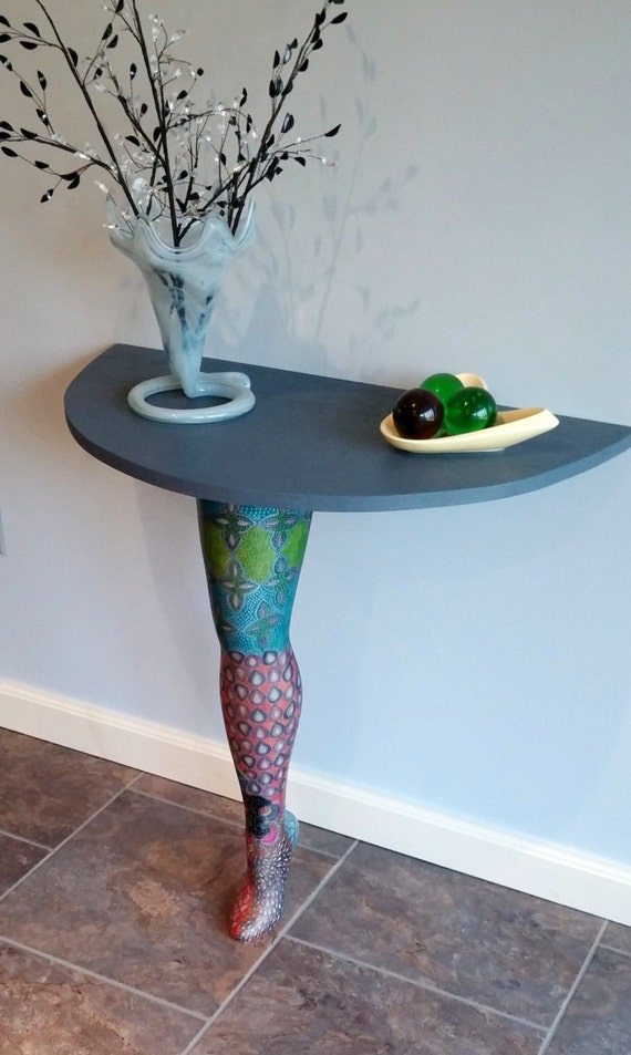 Modern Art Table Leg Furniture Decor Hand Painted Table