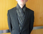 Men's scarf felted wool, natural designer clothing men, eco friendly clothing men, funky men's clothing, gift for him
