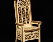 Throne 1:12 scale, 'King-size', Flat-pack, for DIY assembly