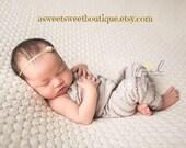 Sweet And Simple Newborn Headband In Golden Pearl Stunning Vintage Style Newborn Photo Prop