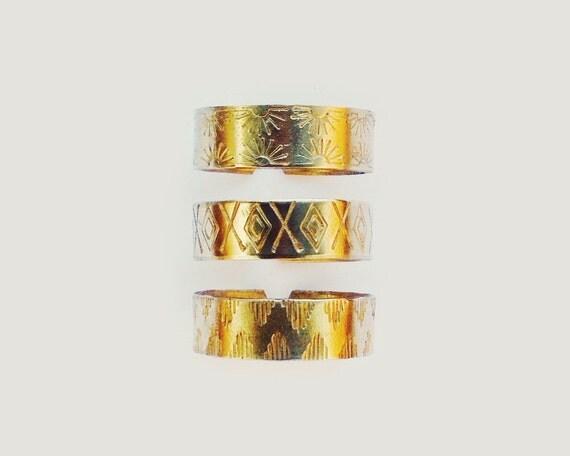 adjustable brass ring // hand formed & stamped