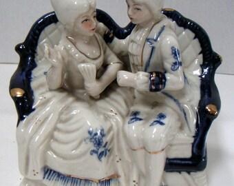 Vintage Victorian Couple, Ceramic Figurine,Valentine's Day Gift,Love,Romance,Keepsake