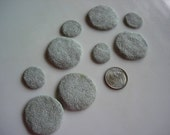 Fairy Garden Pathway ,  textured  gray faux grantie polymer clay stepping stones , Set of Nine