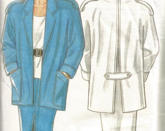 Vintage 1980s sewing pattern for women's coat & pencil skirt (New Look 6853)