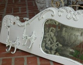 Ornate WALL HOOK (REPRODUCTION) Cast Iron In Painted Color Of Your Choice Distressed Shabby Chic Rack