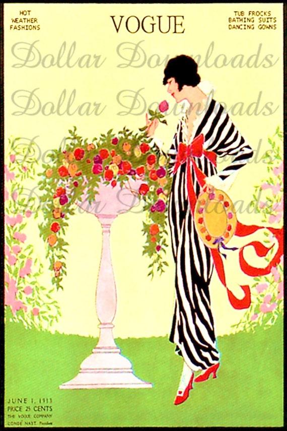 VOGUE Magazine Cover June 1913 Digital Image Download No. 1103