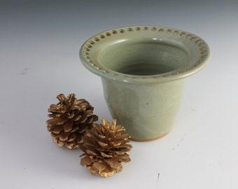 Jewelry bowl - green - earring holder - gift for girl