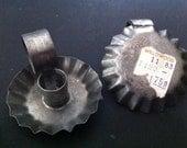 Mini Tin Candleholders, Various Vintage Americana Candleholders