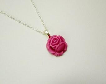 Plum Rose Necklace