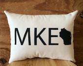 Milwaukee Pillow - MKE /  Wisconsin, Beer