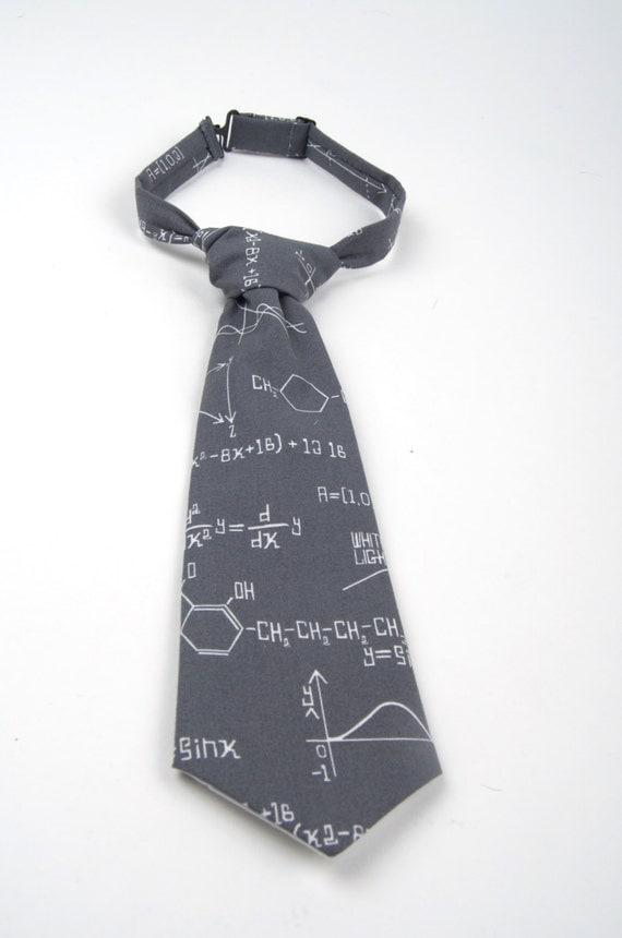 grey math necktie kid s math tie boy s math tie