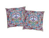 Set Of 2 Cushions Cover  HMONG Hill Tribe Thailand Handmade (CS011SET-MUB)