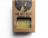 Bayberry Soap made with Certified Organic Oils and Butters - Palm Oil Free Soap - Great Groomsmen Gift - Father's Day Gift - Masculine Soap