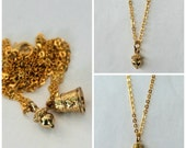 Acorn and Thimble Peter Pan Thimble & Wendy Kiss Acorn Gold Finish Necklaces  Men, Women, Sweetheart, Lover, Sister, Best Friend