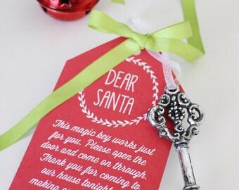 CHRISTMAS Eve Printable Tags - Santas Key, Reindeer Food, Santas Cookies - Print Your Own
