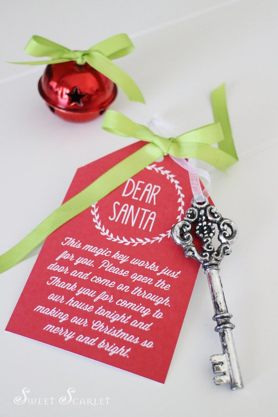 SANTAS KEY Printable Tags - Santas Magic Key, Reindeer Food, Santas ...