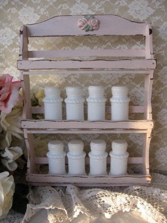 shabby chic tag re pices tag re pices rose avec des. Black Bedroom Furniture Sets. Home Design Ideas