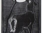 Woodblock Print:  Deer Moon