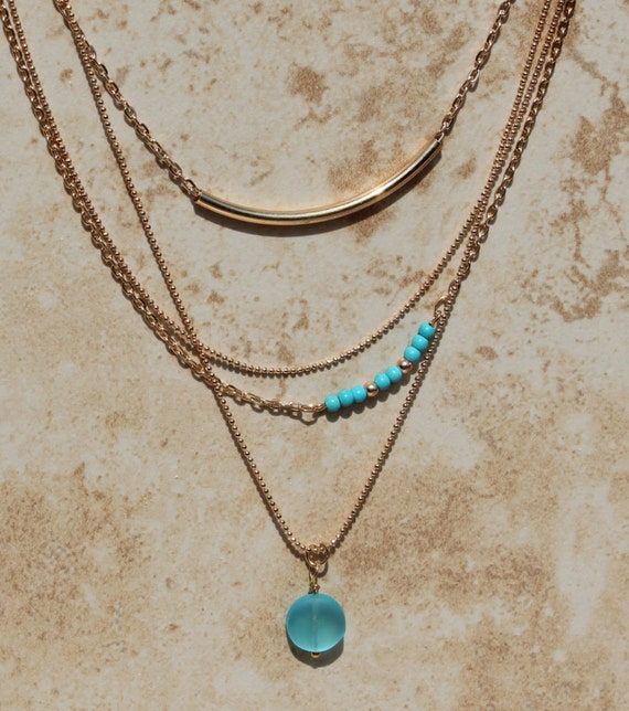 layered necklace set gold fill layering necklaces