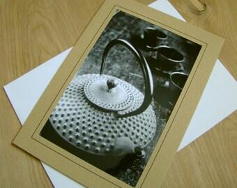 Teapot Original Photograph Greeting Card - Notecard - Birthday