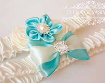 Wedding garter set, Bridal Garter, Crystal Garter, Rhinestone Garter, Toss Garter