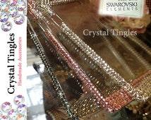 Iridescent Sparkle Beautiful Design Made w/ 100% SWAROVSKI Elements Crystal Case For iPhone 7 6s PLUS SE 5S Pink White Black Diamond Bling