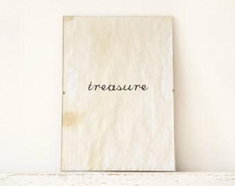 Wall Decor, Poster, Sign - treasure