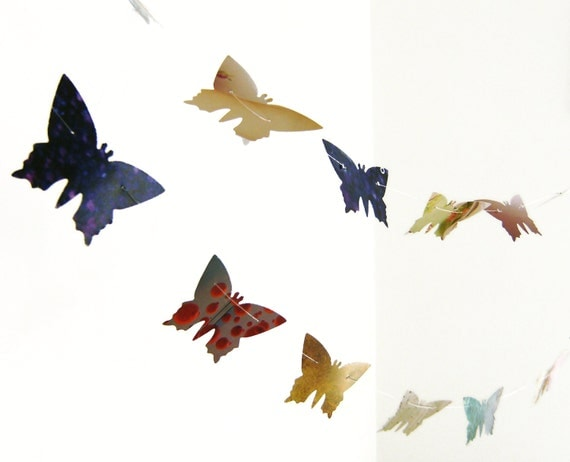 Colorful butterflies paper garland