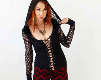 Popular items for corset hoodie on Etsy
