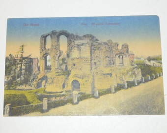 Vintage 1919 Chromolithograph Post Card - Ludwig Feist, Manz Post Card - Die Mosel Roman Imperial Palace - Romischer Kaiserpalast