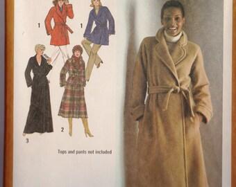 Simplicity Pattern 9201 Wrap Coat  Size 42 1979 Uncut