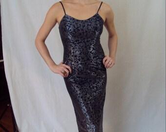 Gunne Sax Metallic Slip Dress 1990s XS/S